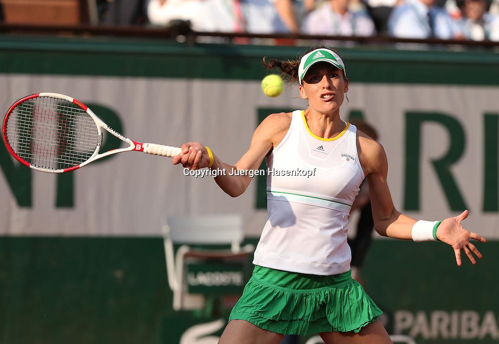 French Open 2014, Roland Garros,Paris,ITF Grand Slam Tennis Tournament,<br /> Andrea Petkovic (GER),Aktion,Einzellbild,Halbkoerper,Querformat,