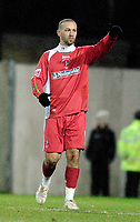 Photo: Alan Crowhurst.<br />Swindon Town v Morecambe. The FA Cup. 02/12/2006.<br />Swindon's Christain Roberts celebrates his winner from the penalty spot 1-0.
