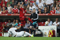 05.08.2015, Allianz Arena, Muenchen, GER, AUDI CUP, FC Bayern Muenchen vs Real Madrid, im Bild Nacho Fernandez (Real Madrid CF #6) im Zweikampf gegen Douglas Costa (FC Bayern Muenchen #11) // during the 2015 Audi Cup Match between FC Bayern Munich and Real Madrid at the Allianz Arena in Muenchen, Germany on 2015/08/05. EXPA Pictures © 2015, PhotoCredit: EXPA/ Eibner-Pressefoto/ Schüler<br /> <br /> *****ATTENTION - OUT of GER*****