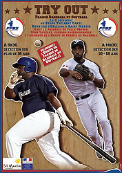Rene Leveret and Felix Brown, St Martin Baseball Try Out for French National Team, 2014.