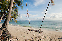 Rope swing on beach; Koh Pha Ngan; Thailand