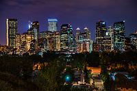 Sunnyside Bank Park (Foreground) & Calgary Skyline @ Night