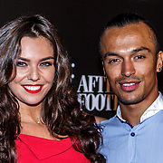 NLD/Amsterdam/20141115 - Life After Football fair 2014, Laura Ponticorvo en Alfredo van der Veer