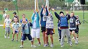 Cricket Fans look to catch the ball, at the National Bank's Cricket Super Camp , University oval, Dunedin, New Zealand. Thursday 2 February 2012 . Photo: Richard Hood photosport.co.nz