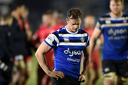 Chris Cook of Bath Rugby looks dejected after the match - Mandatory byline: Patrick Khachfe/JMP - 07966 386802 - 29/11/2019 - RUGBY UNION - The Recreation Ground - Bath, England - Bath Rugby v Saracens - Gallagher Premiership