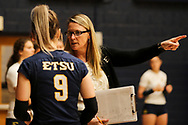 October 31, 2018 - Johnson City, Tennessee - Brooks Gym: ETSU head coach Lindsey Devine<br /> <br /> Image Credit: Dakota Hamilton/ETSU