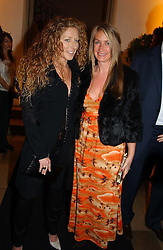 Interior designer KELLY HOPPEN and designer ANYA HINDMARSH<br />