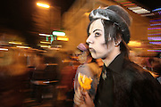 Salem, MA 103109   George Bats (cq) of Norwood, MA came to Salem, MA  as a Gothic vampire to celebrate Halloween night on October 31, 2009. (Essdras M Suarez/ ZUMA)