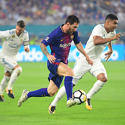 Lionel Messi of Barcelona during the International Champions Cup match between Barcelona and Real Madrid at Hard Rock Stadium on July 29, 2017 in Miami Gardens, Florida. (Photo by Dave Winter/Icon Sport)