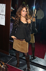 Actress PREEYA KALIDAS at the launch party of Purple Lounge - a new poker web site, held at The Cuckoo Club, Swallow Street, London W1 on 30th November 2005.<br />