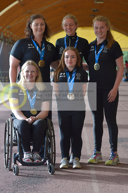 16 / 06 / 2016,  Orla Barry (Ladysbridge, Co. Cork), F57 class, Leevale Athletic Club, Greta Streimikyte (Swords, Co. Dublin), T13 class, Clonliffe Harriers AC, Niamh McCarthy (Carrigaline, F41 class, Paralympics Ireland Athletics, Noelle Lenihan (Charleville, F38 class, North Cork Athletic Club, Deirdre Mongan (originally from Milltown, Co. Galway now living in Newcastle, Co. Down), F53 class pictured  at the 2016 IPC Athletic European Championships in Grosseto, Italy