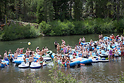 Rafting on the Truckee River downstream from Lake Tahoe, CA
