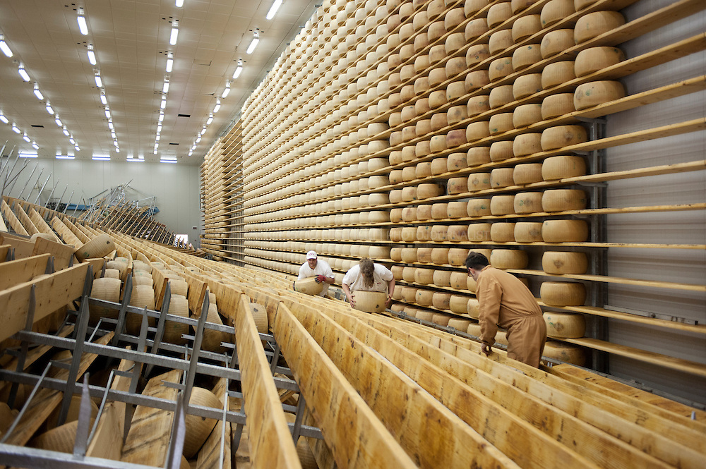 Italy, San Giovanni in Persiceto (BO), May 2012. Caretti, Parmigiano Reggiano factory.<br />