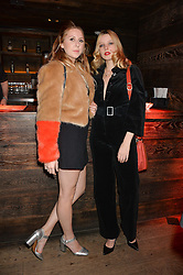 Left to right, sisters CAMILLA BELLAMACINA and GRETA BELLAMACINA at a party to celebrate the launch of the Beth Ditto Clothing Line held at The London Edition, Berners Street, London on 18th February 2016.