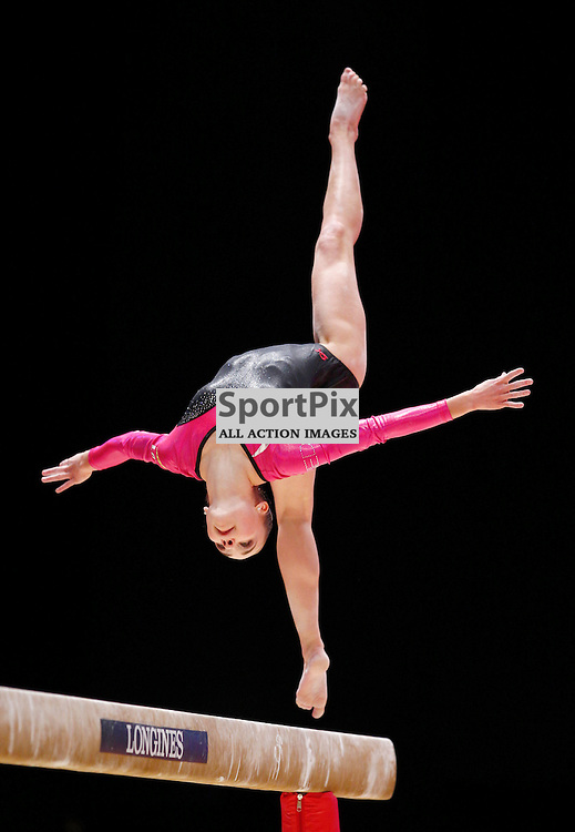 2015 Artistic Gymnastics World Championships being held in Glasgow from 23rd October to 1st November 2015.....Eythora Thorsdottir (Netherlands) performs in the Horizontal Bar on Day 2 of the Women's & Men's Apparatus Final...(c) STEPHEN LAWSON | SportPix.org.uk