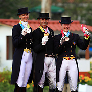 Heather Blitz, Steffen Peters and Marisa Festerling at the 2011 Pan American Games in Guadalajara, Mexico.