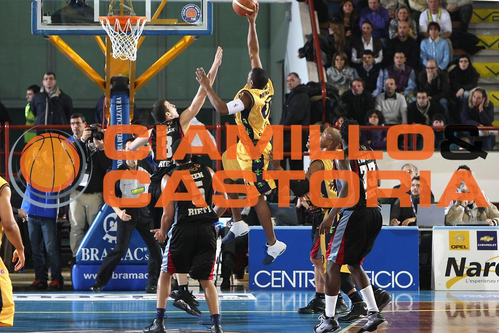 DESCRIZIONE : Porto San Giorgio Lega A1 2008-09 Premiata Montegranaro Solsonica Rieti<br /> GIOCATORE : Ricky Minard<br /> SQUADRA : Premiata Montegranaro<br /> EVENTO : Campionato Lega A1 2008-2009<br /> GARA : Premiata Montegranaro Solsonica Rieti<br /> DATA : 25/01/2009<br /> CATEGORIA : Tiro<br /> SPORT : Pallacanestro<br /> AUTORE : Agenzia Ciamillo-Castoria/C.De Massis