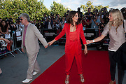 Pedro Almodovar  and Penelope Cruz. The UK film premiere and outdoor screening of 'Broken Embraces', at Somerset House on July 30, 2009. London.