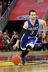 26 January 2016: Graham Woodward(3) during the Illinois State Redbirds v Drake Bulldogs at Redbird Arena in Normal Illinois (Photo by Alan Look)