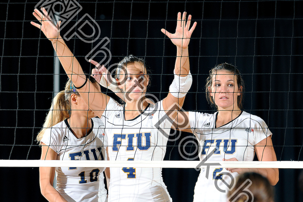 2012 September 21 - FIU's Gloria Levorin (4). Florida International University women's volleyball team fell to the Lady Trojans of the University of Arkansas Little-Rock, 3-2, at the US Century Bank Arena, Miami, Florida. (Photo by: www.photobokeh.com / Alex J. Hernandez) This image is copyright PhotoBokeh.com and may not be reproduced or retransmitted without express written consent of PhotoBokeh.com. ©2012 PhotoBokeh.com - All Rights Reserved