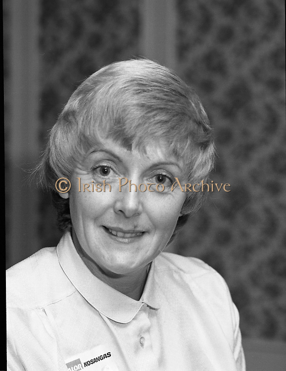 Calor Kosangas Housewife of the Year..1980-10-07.7th October 1980.07/10/1980.10-07-80..Photographed at Gresham Hotel, Dublin..Maura Oppermann (Ballymun)