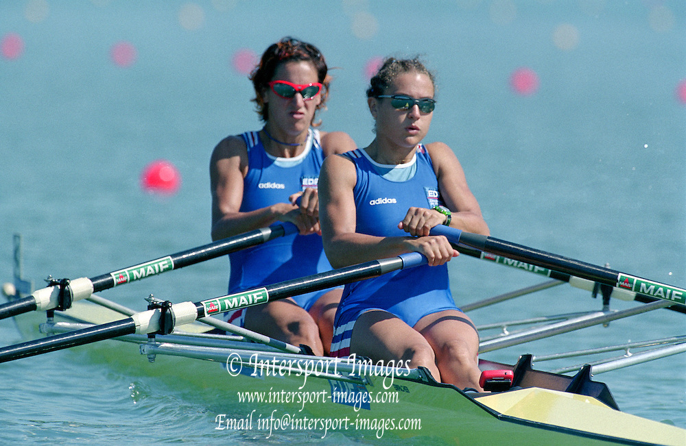 St Catherines, CANADA,   Women's Lightweight Double Sculls. ITA. LW2X, .Marianna BARELLI  and  Antonella SKERLAVAJ. 1999 World Rowing Championships - Martindale Pond, Ontario. 08.1999..[Mandatory Credit; Peter Spurrier/Intersport-images]   .... 1999 FISA. World Rowing Championships, St Catherines, CANADA