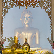 Glass Enclosed Thai Buddha