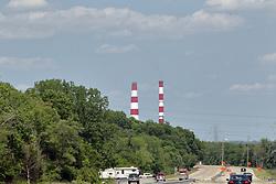 Power plant smoke stack