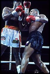 28 June 1991:  Mike Tyson battles Razor Ruddock at the Mirage in Las Vegas, NV...Mandatory Credit:  Manny Millan/Icon SMI
