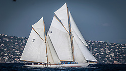 Saint-Tropez 29th September 2016, Gstaad Yacht Club Centenary Trophy, USA's flagged NYYC50 Spartan has won the 6th edition of the Gstaad Yacht Club Centenary Trophy in an exciting photo-finish with 2014 winner Olympian, skippered by Bruno Troublé.