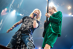 September 9, 2016 - Auburn Hills, Michigan, U.S - ANGUS YOUNG and AXL ROSE of AC/DC performing on the Rock or Bust World Tour at the Palace of Auburn Hills in Auburn Hills, MI on September 9th 2016 (Credit Image: © Marc Nader/ZUMA Wire)