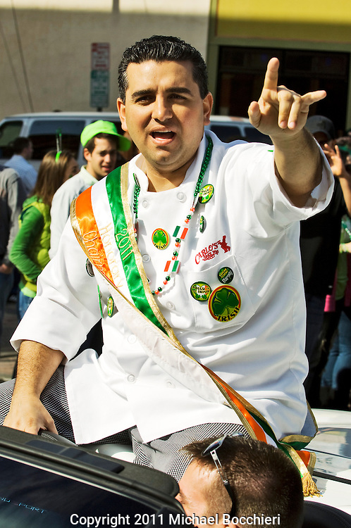 HOBOKEN, NJ - March 05:   Cake maker Buddy Valastro of Carlo's Bakery and TLC's Cake Boss attends Hoboken's 25th annual St. Patrick's Day Parade March 05, 2011 in HOBOKEN, NJ.  (Photo by Michael Bocchieri/Bocchieri Archive)