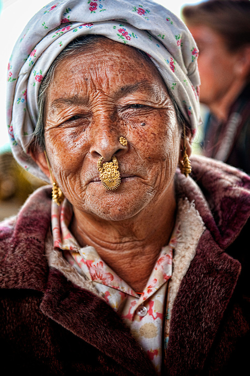 Thimpu, Vegetable, market, color, old, woman