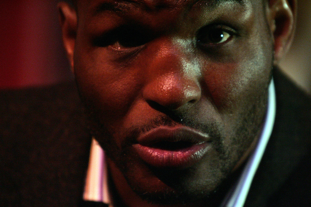"""Bernard Hopkins. Press conference to promote the Light Heavyweight between Ronald """"Winky"""" Wright and Bernard """"The Executioner"""" Hopkins. MGM Grand, 5th May 2007"""