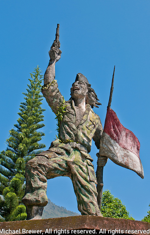 Monument to Balinese independence hero on the slopes of Mt. Agung in Eastern Bali, Indonesia
