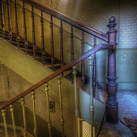 Staircase in Hotel S in the Black Forest