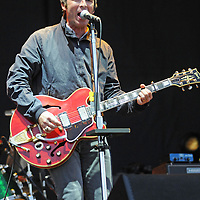 WESTON PARK, UK:.Noel Gallagher on stage at the V Festival on Sunday evening, 19th August 2012..PHOTOGRAPH BY TERRY KANE / BARCROFT MEDIA LTD..UK Office, London..T: +44 845 370 2233.E: pictures@barcroftmedia.com.W: www.barcroftmedia.com..Australasian & Pacific Rim Office, Melbourne..E: info@barcroftpacific.com.T: +613 9510 3188 or +613 9510 0688.W: www.barcroftpacific.com..Indian Office, Delhi..T: +91 997 1133 889.W: www.barcroftindia.com