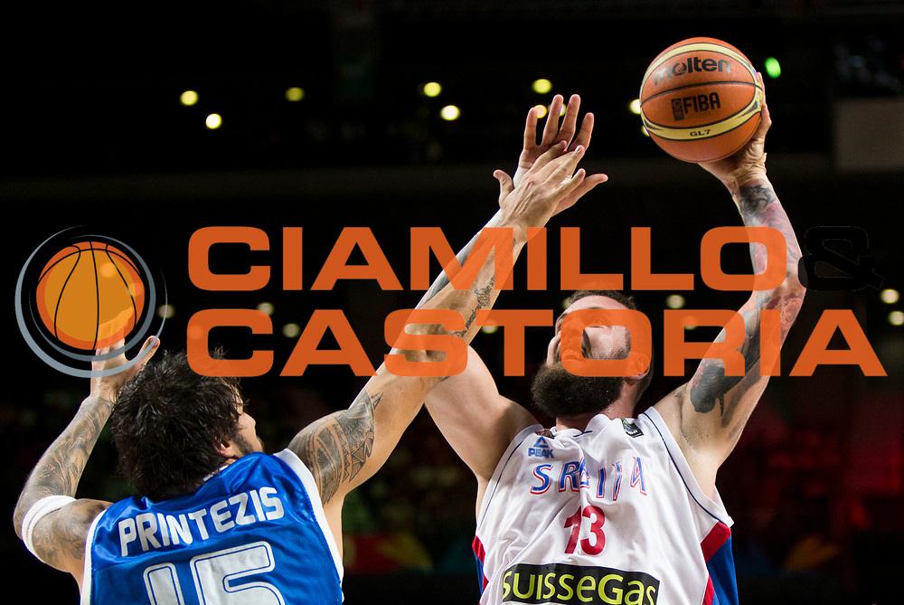 DESCRIZIONE : Madrid FIBA Basketball World Cup Spain 2014 Qualification to 1/4 Finals Serbia Grecia Serbia Greece<br /> GIOCATORE : Miroslav RADULJICA<br /> CATEGORIA : <br /> SQUADRA : Serbia<br /> EVENTO : FIBA Basketball World Cup Spain 2014<br /> GARA : Serbia Grecia Serbia Greece<br /> DATA : 07/09/2014<br /> SPORT : Pallacanestro <br /> AUTORE : Agenzia Ciamillo-Castoria<br /> Galleria : FIBA Basketball World Cup Spain 2014<br /> Fotonotizia : Madrid FIBA Basketball World Cup Spain 2014 Qualification to 1/4 Finals Serbia Grecia Serbia Greece