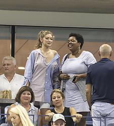 September 4, 2018 - New York, New York, United States - Bella Hadid attends US Open 2018 quarterfinal match between Serena Williams of USA & Karolina Pliskova of Czech Republic at USTA Billie Jean King National Tennis Center (Credit Image: © Lev Radin/Pacific Press via ZUMA Wire)