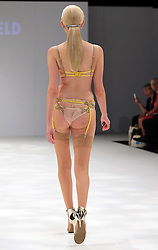 Lingerie designs by student Hannah Winfield at the De Montfort University show  at Graduate Fashion Week in London , Monday, 3rd June 2013<br /> Picture by:  Stephen Lock / i-Images