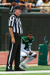 BLOOMINGTON, IL - September 28:  Mark Jontry during a college football game between the IWU Titans and the Augustana Vikings on September 28 2019 at Wilder Field in Tucci Stadium in Bloomington, IL. (Photo by Alan Look)
