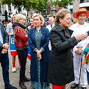 """NLD/Alkmaar/20180518 - Perspresentatie """"Nederland staat op tegen kanker"""" officiele start, Peter R. de Vries, Marlijn Weerdenburg en Anita Witzier"""