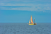Sailboat on Gulf of St. Lawrence<br />Gaspe Peninsula<br />Quebec<br />Canada