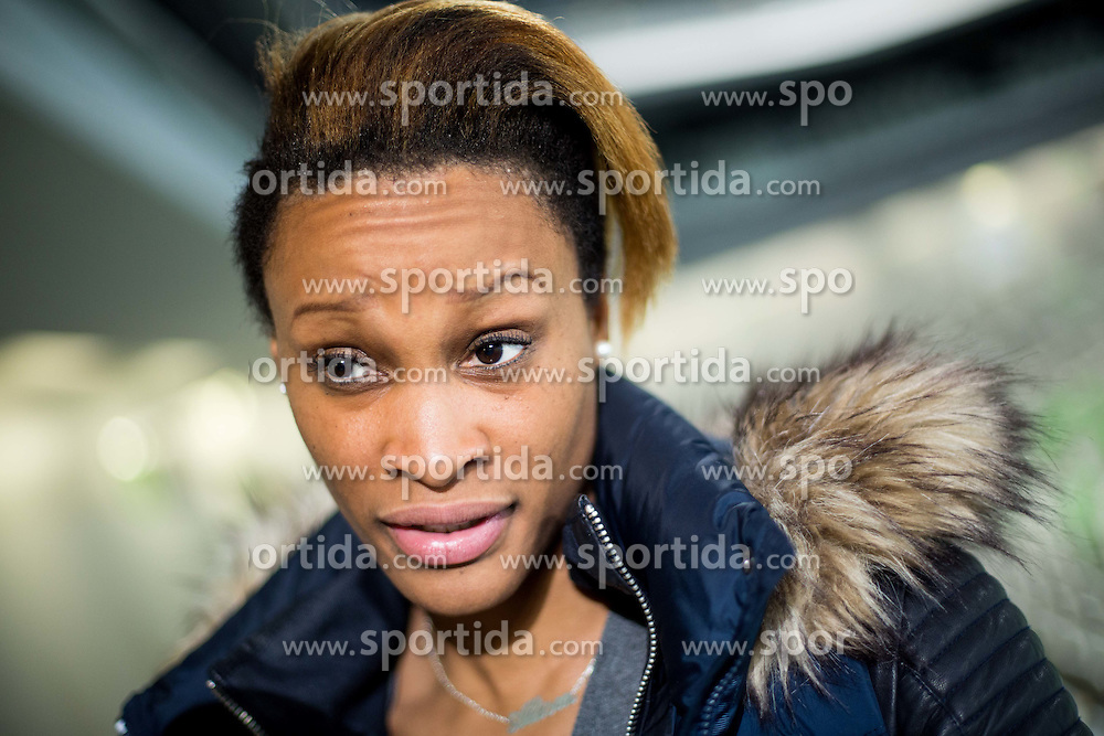 Allison Pineau, French handballer of Krim Mercator after the handball match between RK Krim Mercator (SLO) and HC Leipzig (GER) in 6th Round of Women's EHF Champions League 2014/15, on November 21, 2014 in Arena Stozice, Ljubljana, Slovenia. Photo by Vid Ponikvar / Sportida