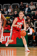 January 22, 2009: Kirsty Kenney of the North Carolina State Wolfpack in action during the NCAA basketball game between the Miami Hurricanes and the North Carolina State Wolfpack. The 'Canes defeated the Wolfpack 72-60.