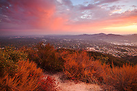 Sunset Ridge in San Gabriel Mountains Above Altadena, Angeles National Forest, California