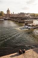 France. Paris. the pont des arts on the Seine river