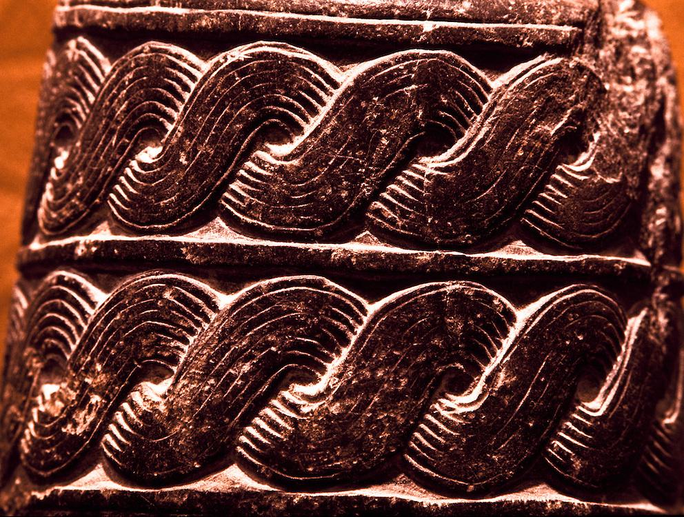 Pottery artifact from Qaryat al-Fau. National Museum of Saudi Arabia. Riyadh, Saudi Arabia