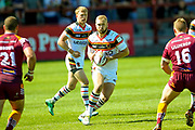 Bradford Bulls Damian Sironen (10) receives the ball during the Kingstone Press Championship match between Batley Bulldogs and Bradford Bulls at the Fox's Biscuits Stadium, Batley, United Kingdom on 16 July 2017. Photo by Simon Davies.