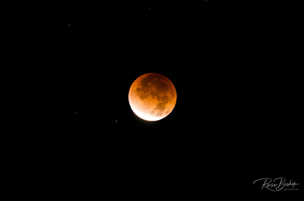 Lunar eclipse, Ventura, California USA